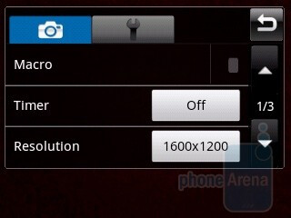 Camera interface - Samsung Galaxy 5 I5500 Preview