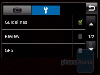 Camera interface - Samsung Galaxy 5 I5500 Preview