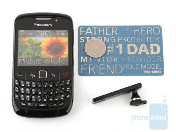 Next tothe RIM BlackBerry Curve 8520 - Bluetrek Metal Evolution Review