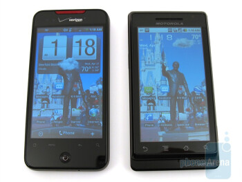 Motorola DROID and HTC Droid Incredible: side by side