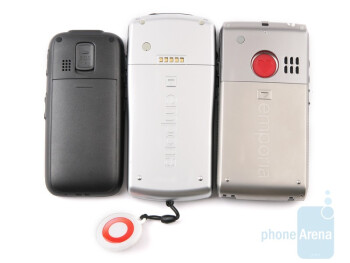 hagenuk fono e100 (left), Emporia TALK Premium (center), Emporia LIFE Plus (right) - Emporia LIFE Plus, TALK Premium and hagenuk fono e100: side by side