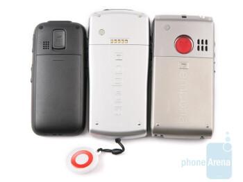 hagenuk fono e100 (left), Emporia TALK Premium (center), Emporia LIFE Plus (right) - Emporia LIFE Plus, TALK Premium and hagenuk fono e100: side by side