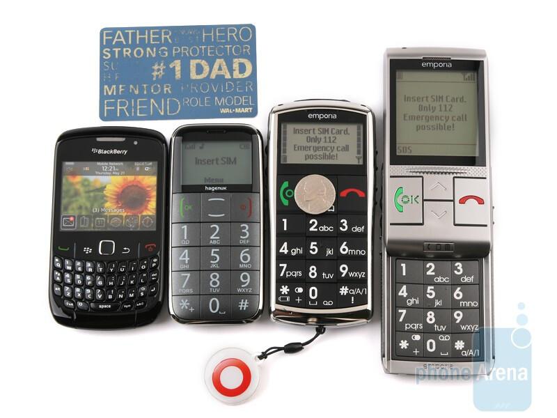 Together with RIM BlackBerry Curve 8520 - Emporia LIFE Plus, TALK Premium and hagenuk fono e100: side by side