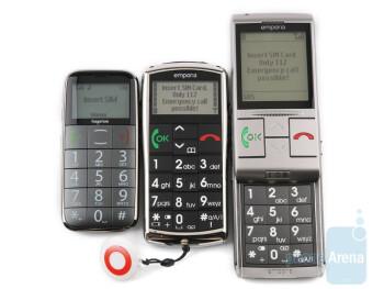 Emporia LIFE Plus, TALK Premium and hagenuk fono e100: side by side
