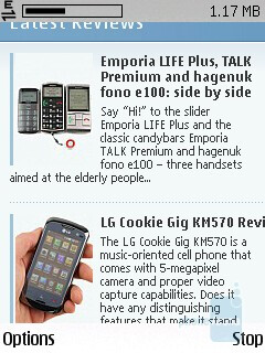 Browser - The Nokia C5 is a Symbian S60 3rd Edition smartphone - Nokia C5 Review
