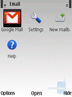 Nokia Messaging supports multiple email accounts - Nokia C5 Review