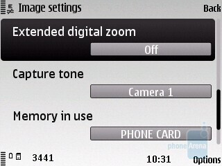 Camera interface - Nokia C5 Review