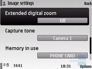 Camera interface - Nokia C5 Review
