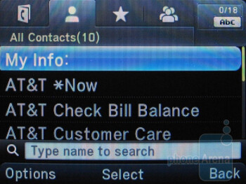 Phone book - Pantech Link Review