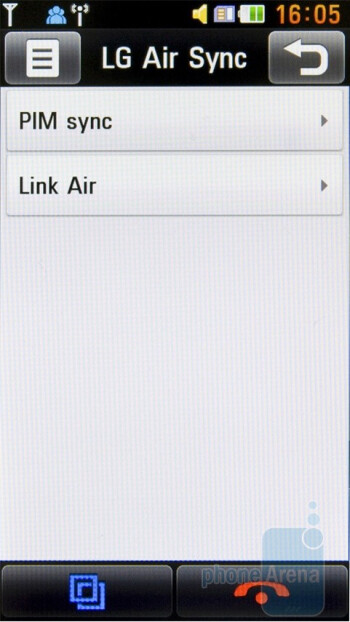 The service LG Air Sync - LG Mini GD880 Review