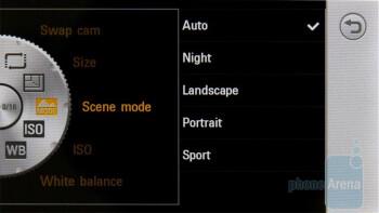 Camera interface - LG Mini GD880 Review
