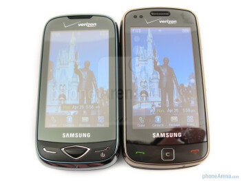 The Samsung Reality U820 (left) and the Samsung Rogue U960 (right) - Samsung Reality U820 Review