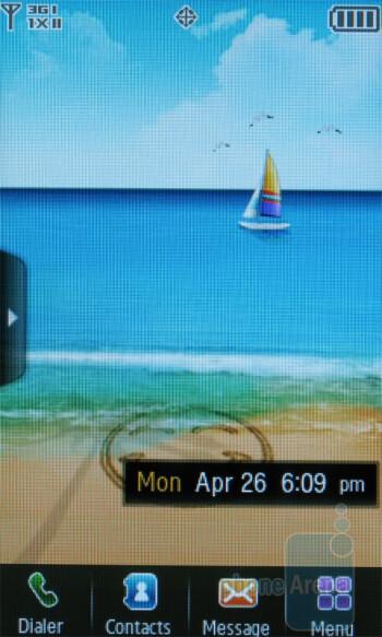 The Samsung Reality U820 comes with 3 homescreens - Samsung Reality U820 Review