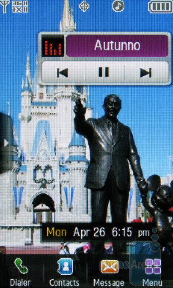 Music player - Samsung Reality U820 Review