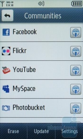 Messaging options of the Samsung Reality U820 - Samsung Reality U820 Review