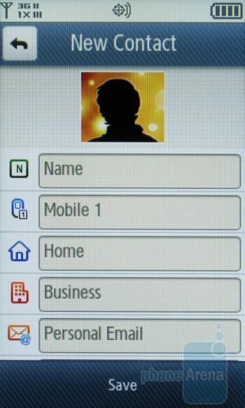 Phonebook - Samsung Reality U820 Review