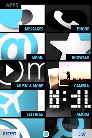 Microsoft KIN TWO - KIN has an interesting user interface that takes some of its design cues  that are noticeably found in Windows Phone 7 - Microsoft KIN ONE and TWO Review