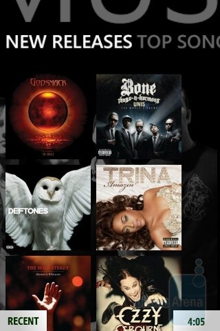 The Zune interface of Microsoft KIN TWO - Microsoft KIN ONE and TWO Review