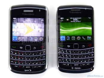 RIM BlackBerry Bold 9650 (L), RIM BlackBerry Bold 9700 (R) - When the Bold 9650 is compared to the other devices, most users would have a hard time telling a difference between the two - RIM BlackBerry Bold 9650 Review