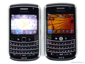 RIM BlackBerry Bold 9650 (L), RIM BlackBerry Tour 9630 (R) - When the Bold 9650 is compared to the other devices, most users would have a hard time telling a difference between the two - RIM BlackBerry Bold 9650 Review