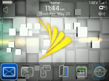 Home screen - RIM BlackBerry Bold 9650 Review