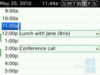 Calendar - RIM BlackBerry Bold 9650 Review