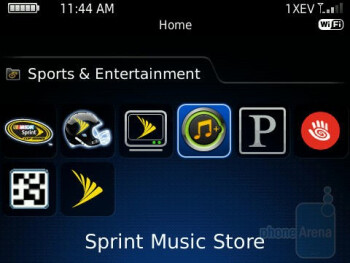 Sprint Music Store - RIM BlackBerry Bold 9650 Review