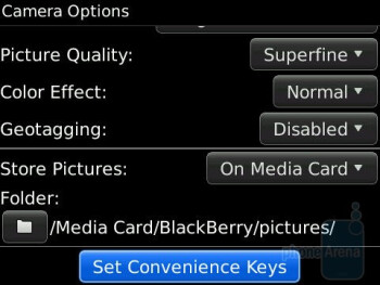 Camera interface - RIM BlackBerry Bold 9650 Review