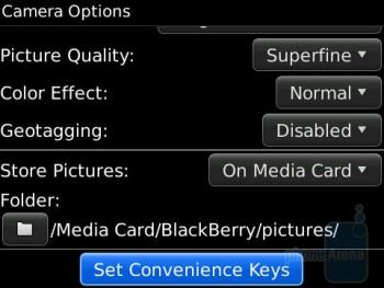Camera interface - RIM BlackBerry Bold 9650 Review