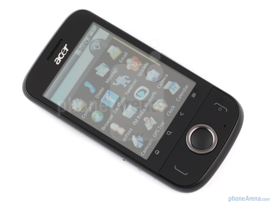 The sides of the Acer beTouch E110 - ACER beTouch E110 Review
