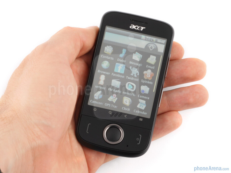 The Acer beTouch E110 is small and compact, with a comfy feeling in the hand - ACER beTouch E110 Review