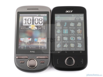 HTC Tattoo (left, up) and Acer beTouch E110 (right, down) - ACER beTouch E110 Review