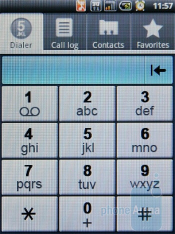 Phone dialer - ACER beTouch E110 Review