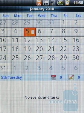 Calendar - ACER beTouch E110 Review