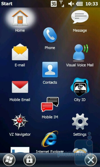 LG Fathom VS750 runs on the stock Windows Mobile Professional 6.5.3 - LG Fathom VS750 Review
