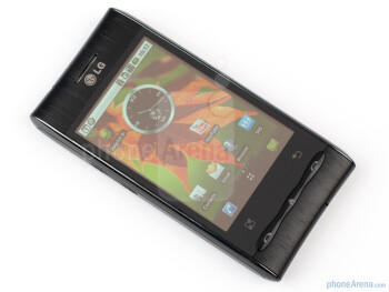 The sides of the LG Optimus GT540 - LG Optimus GT540 Review