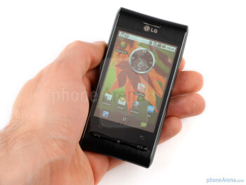 The LG Optimus GT540 is made of plastic and feels very natural in the hand - LG Optimus GT540 Review