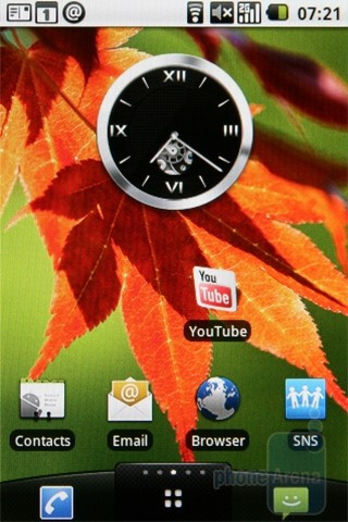 Home screen - Raging Thunder II - LG Optimus GT540 Review