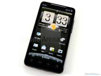 The HTC EVO 4G has a 4.3-inch screen - HTC EVO 4G Review