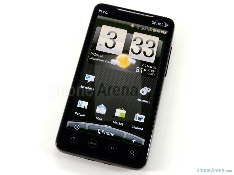 The HTC EVO 4G has a 4.3-inch screen - HTC EVO 4G Review
