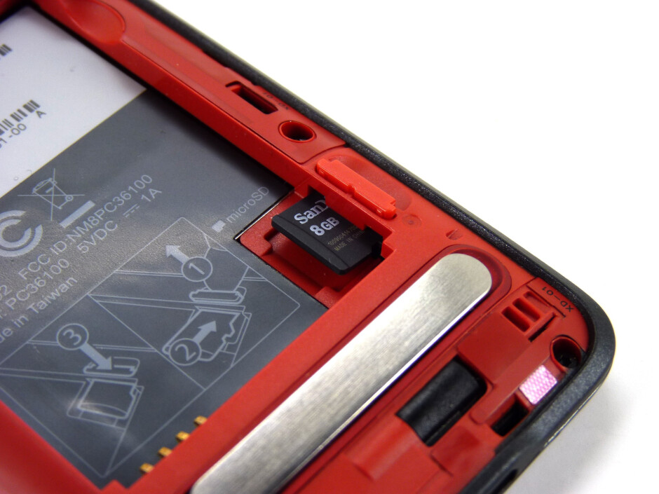The back of the HTC EVO 4Ghas an aluminum kickstand - HTC EVO 4G Review