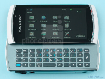 The keyboard is well-built and allows for comfortable typing - Sony Ericsson Vivaz pro Review