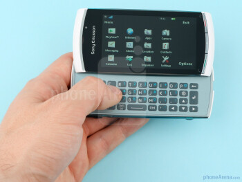 The Sony Ericsson Vivaz pro is curvy, it is small and light, and it fits perfectly in the hand - Sony Ericsson Vivaz pro Review