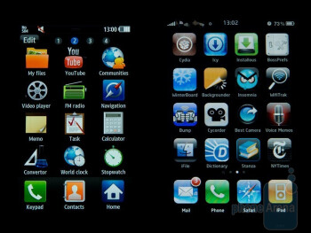 Samsung Wave S8500 (Left) and Apple iPhone 3G (Right) - Samsung Wave S8500 Review