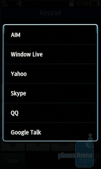 The phonebook of the Samsung Wave S8500 - Samsung Wave S8500 Review