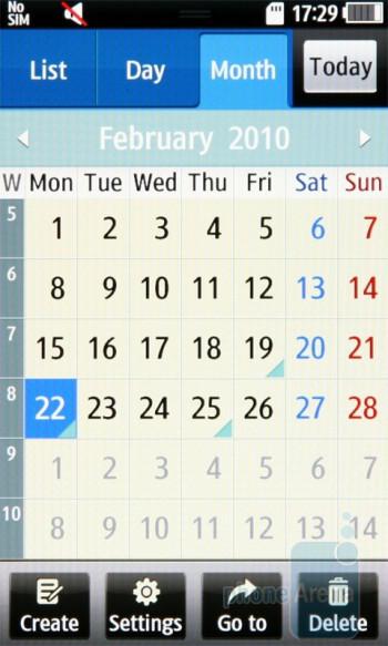 Calendar - Samsung Wave S8500 Review