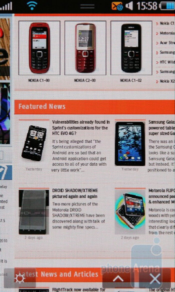 The built-in Dolfin 2.0 browser gets the job done. - Samsung Wave S8500 Review