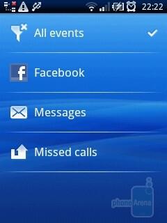 The Timescape widget and app - Sony Ericsson Xperia X10 mini Review