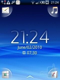 Home screen - Sony Ericsson Xperia X10 mini Review