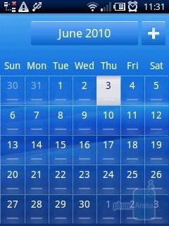 Calendar - Sony Ericsson Xperia X10 mini Review